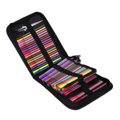 120 Large Colored Pencil Case Organizer Foldable Pen Storage
