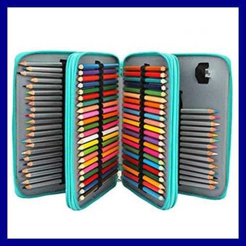 120 slots pencil case pu