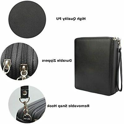 120-Slots PU Leather Case Black Office Products
