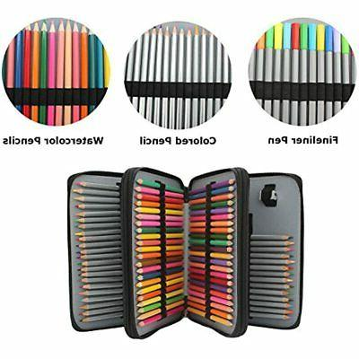 120-Slots PU Pencil Case With Black Office