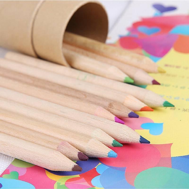 12Pcs Pencils 12 With Sharpener Kids
