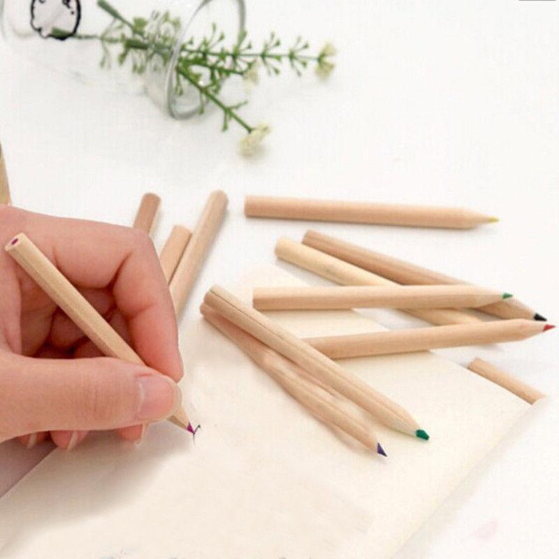 12Pcs Wooden Pencils 12 Sharpener Kids
