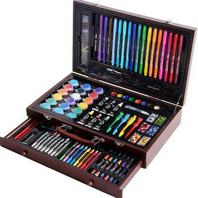 130x Deluxe Art Set Drawing Colored Paints
