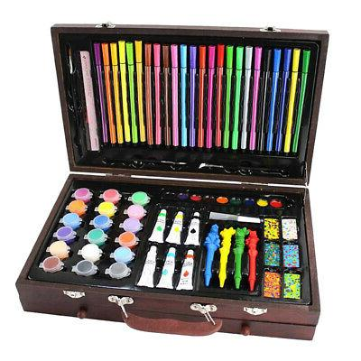 130x deluxe art set drawing painting w