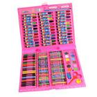 150PCs Deluxe Art Set - Colored Pencils Crayons in Rose Case