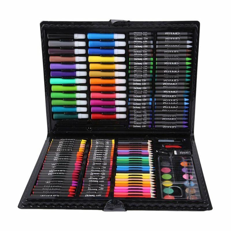 168 Pcs Kids Art Drawing Pencils Set Colored Pencils Watercolor