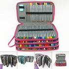 184 Slot Pencil Holder PU Leather Pencil Case Storage Bag fo
