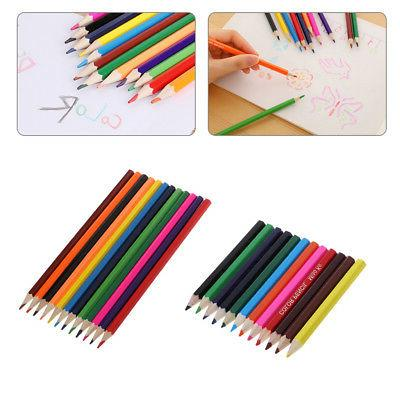 1Set Colored Pencils 12 Color Premium Watercolor Lead Free C