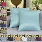 "18"" x 18"" Solid Faux Silk Decorative Pillow / Cushion COVER"