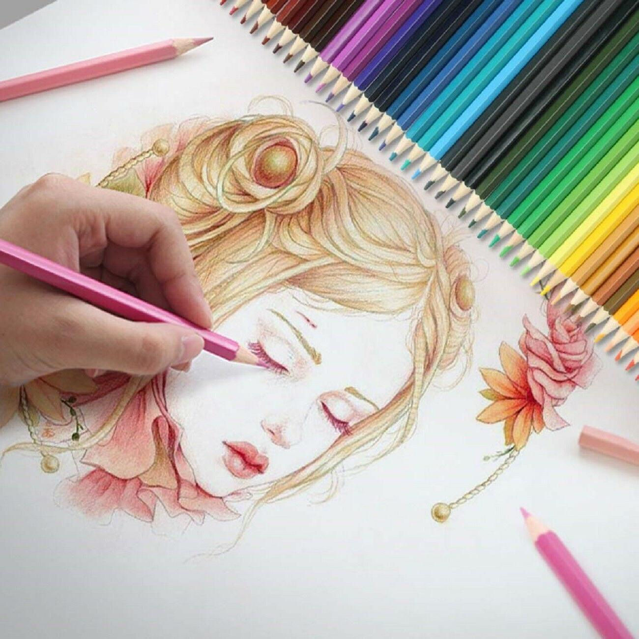 24 COLORED PENCILS For Kids/Adult Art Sketching