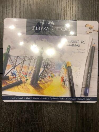 24 goldfaber faber castell colored pencils studio