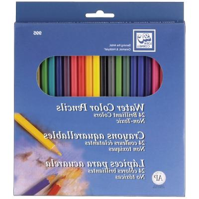 24 Pack Watercolor Pencils Non Toxic Non Acid Brilliant Colo