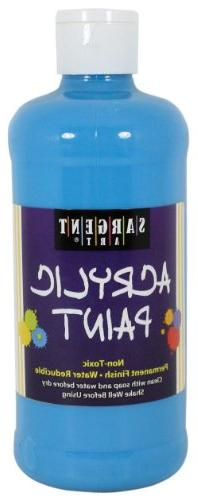 Sargent Art 24-2461 16-Ounce Acrylic Paint, Turquoise
