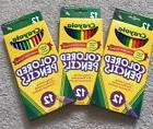 3 Boxes Crayola Colored Pencils 12 Count each NEW