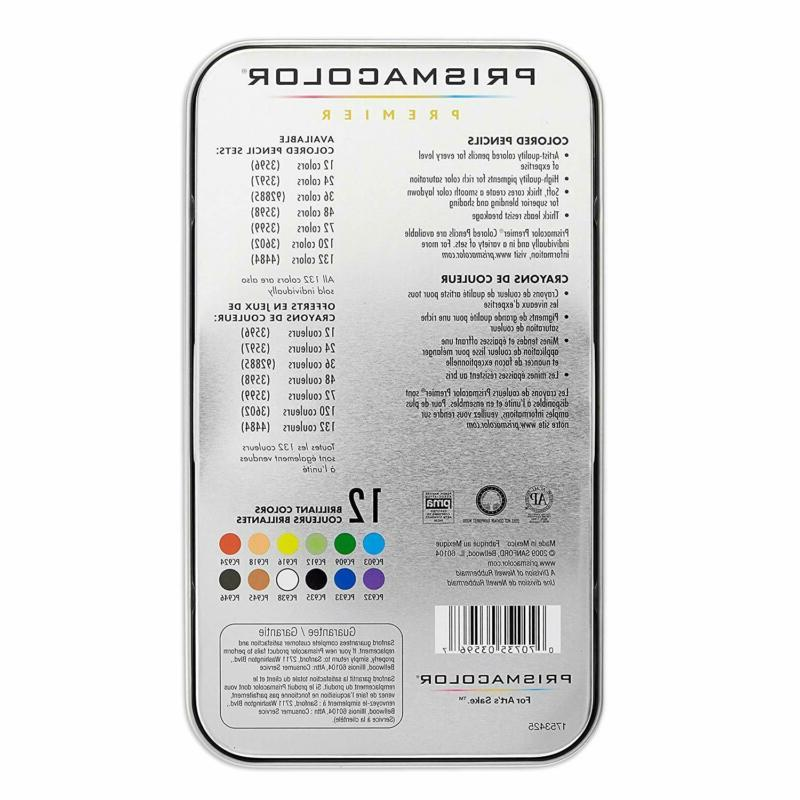 Prismacolor 3596T Premier Pencils, Soft Core,