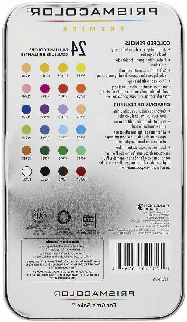 New - Prismacolor Premier Soft Core Colored Pencils, Assorte