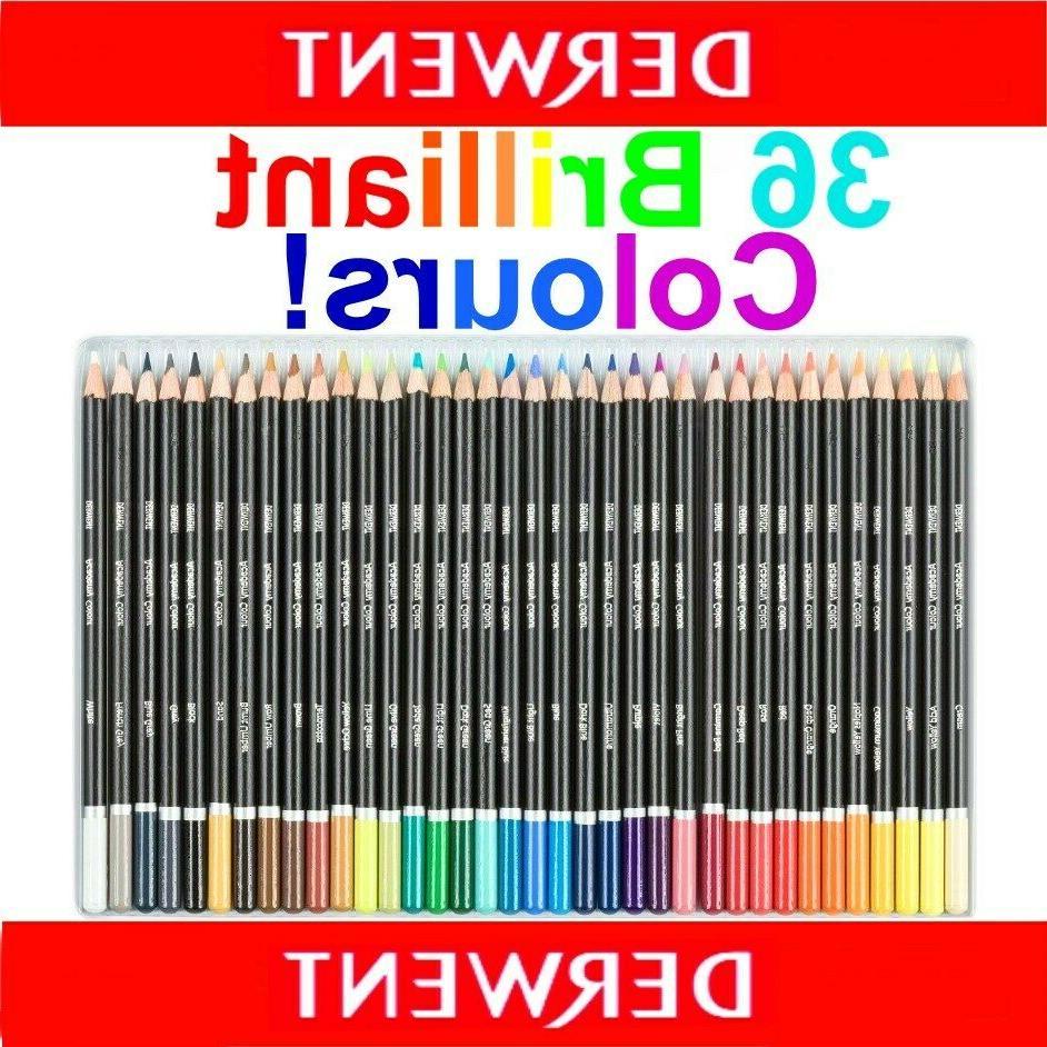 36 Colour Tin Set Derwent ACADEMY Coloured Pencils Adult Col