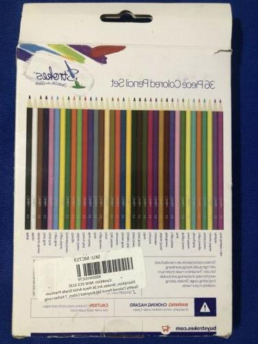 Strokes36 Piece Colored Pencil Hands