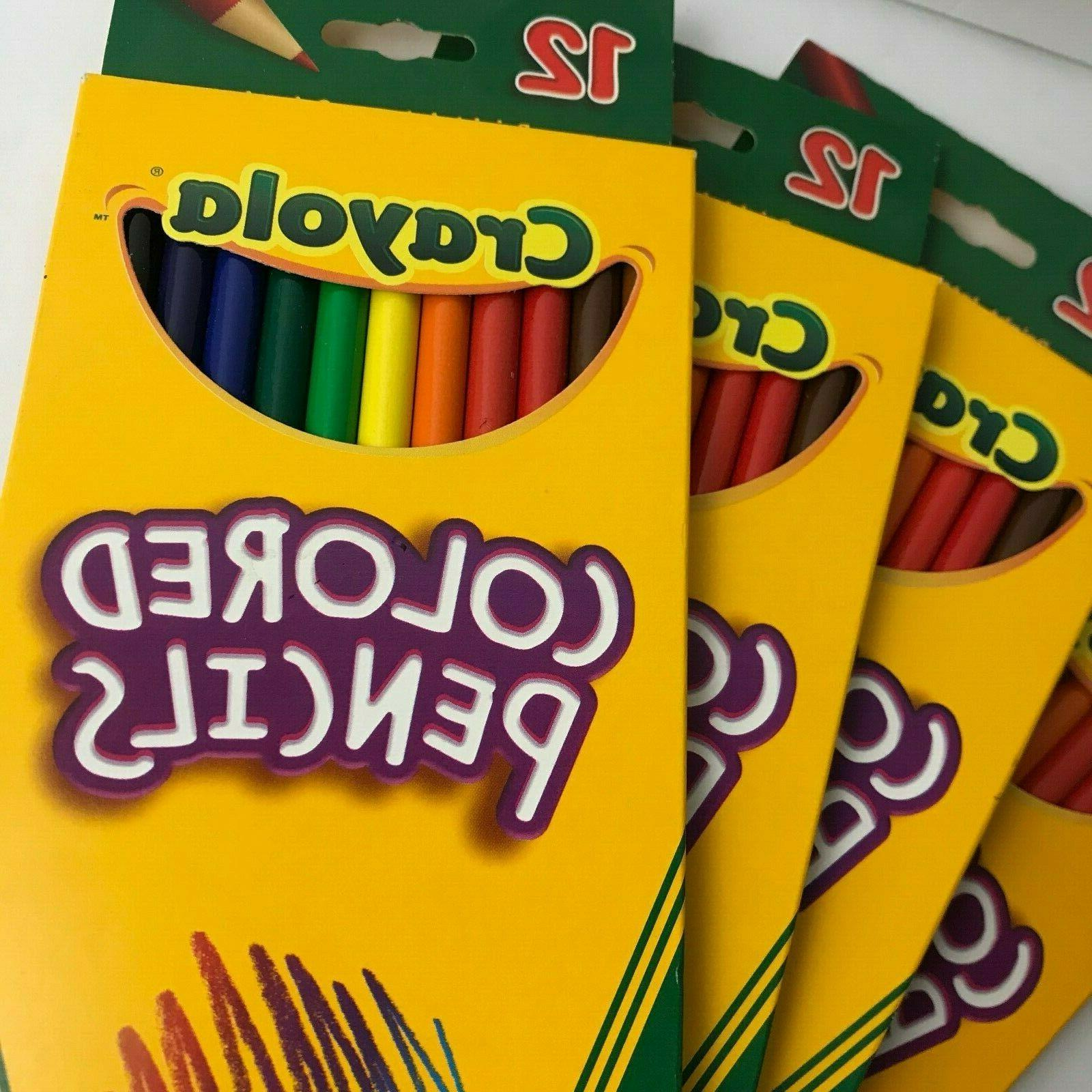 4 Crayola Pre-Sharpened Colored Bold 4