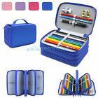4 Layers 72 Slots Large Pencil Brush Case Box Pen Pouch Bag