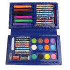 42PCs Deluxe Art Set - Colored Pencils Crayons in Blue Case