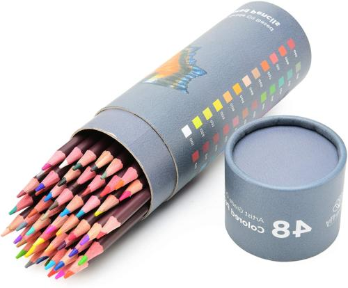 48 Professional Oil Based Coloured Pencils For Artist Includ