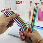 4pcs Magic Bendy Flexible Soft Pencil with Eraser Colorful C