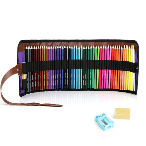 50 Colors Colored Art Student Pencils with Pencils Case Eras