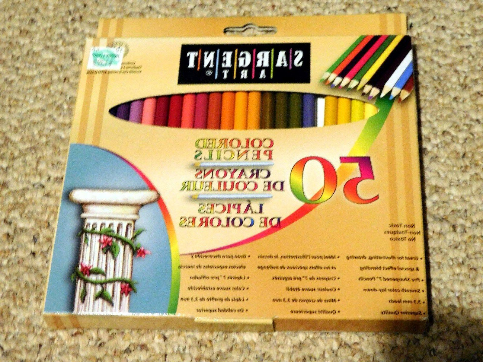 50 count assorted colored pencils for adult
