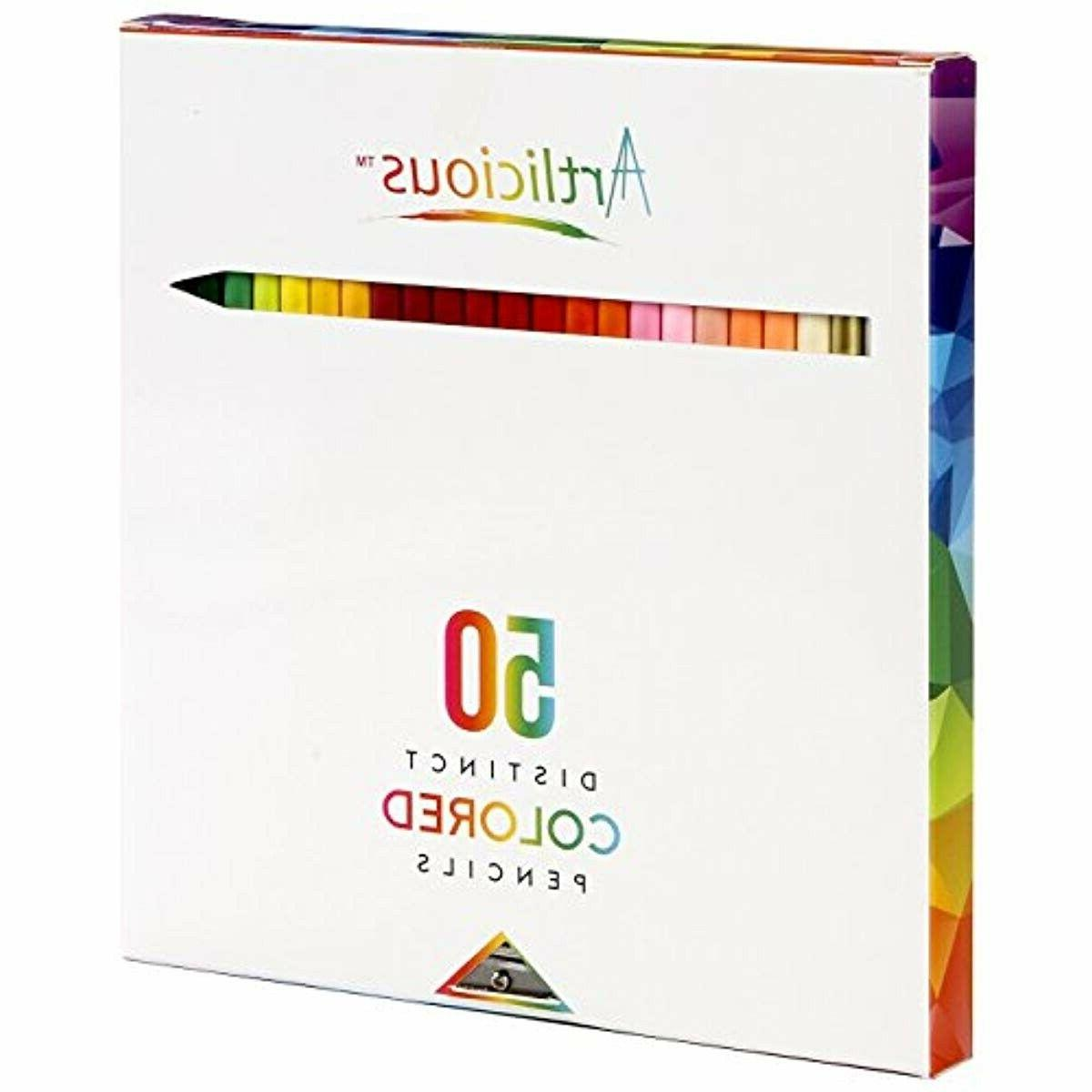 50 premium distinct colored pencils for adult