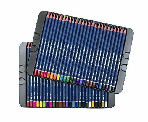 50 Prismacolor Pencils Soft Artist Paint Tin