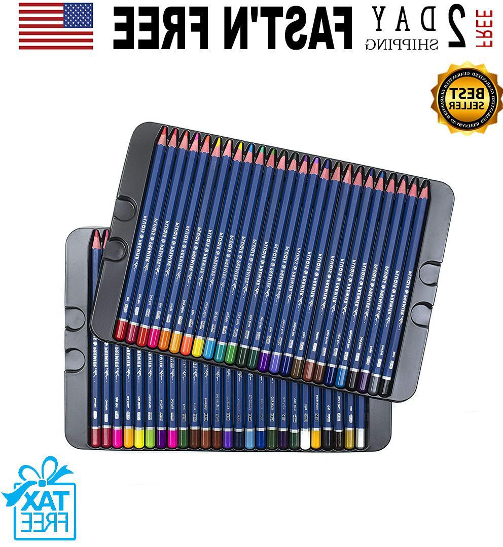 50 prismacolor premier colored pencils platinum soft