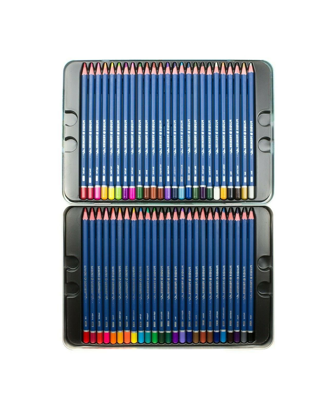 50 Pencils Platinum Artist Tin Case