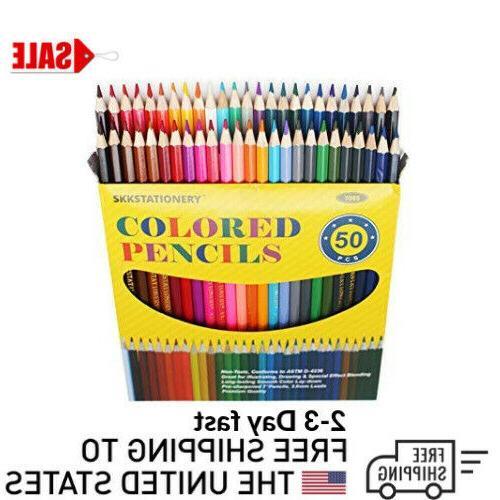 50 Prismacolor Premier Colored Pencils Soft Core Artist Pain