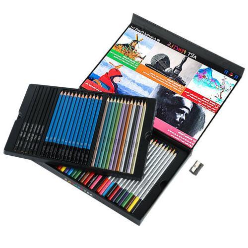 60pcs Watercolor Colored Pencils Art