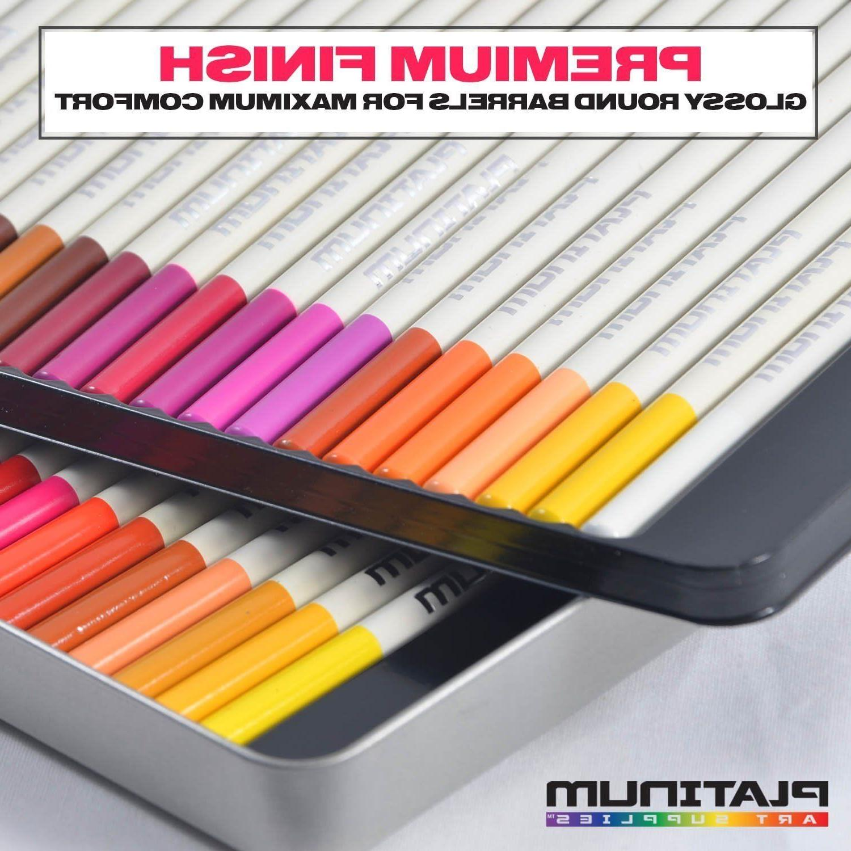 72 Prismacolor Pencils Platinum Soft Artist Paint Tin Case