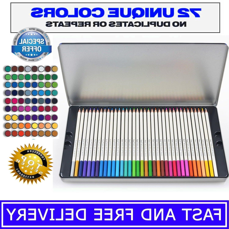 72 Premier Pencils Platinum Artist Paint Tin