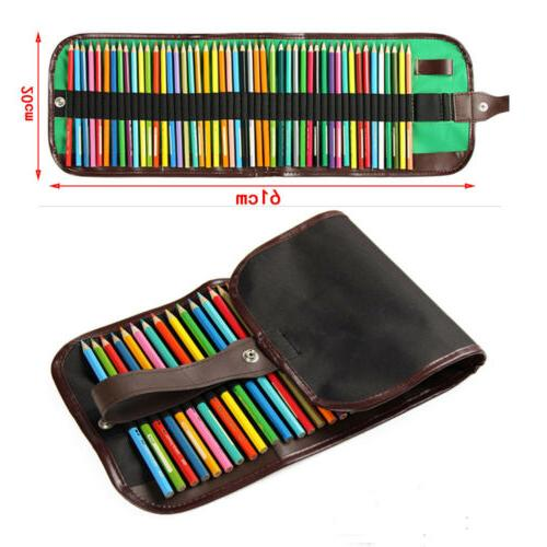 72Colors Art Drawing Oil Base Non-toxic Pencil Case Holder A