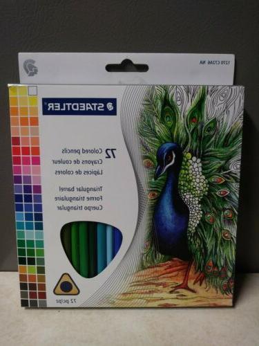 72pc colored triangular barrel pencils set new