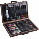 80 Piece Art Kit Set Case Paint Oil Pastel Colored Pencil Ki