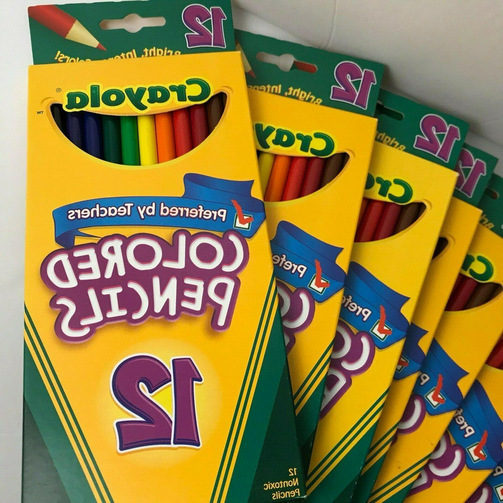 9 12ct. Crayola Pre-Sharpened Bold Lot of 9