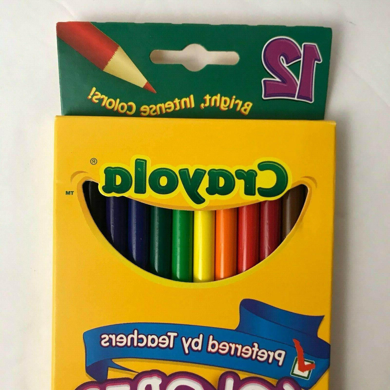 9 Crayola Pre-Sharpened Bold Colors Lot 9