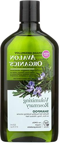 Avalon Organics Shampoo, Volumizing Rosemary, 11 Fluid Ounce