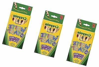 Bulk Buy: Crayola Write Start Colored Pencils 8/Pkg 68-4108