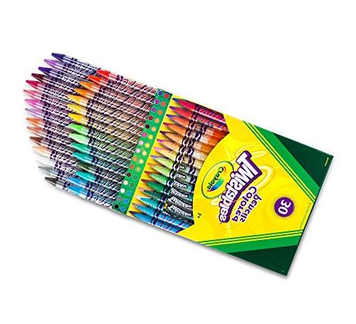 Crayola 68-7409 Colored Pencils, 30 Count, Stocking Stuffer, Gift, Assorted