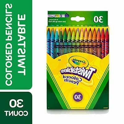 Crayola 68-7409 Twistable Colored Pencils, 30 Count, Stockin