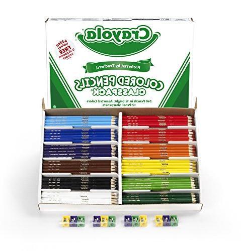 Crayola Colored Pencil Bulk Classpack, 12 240 Count -