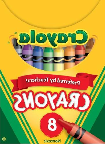 Crayola Crayons, 8-Count, Standard Size