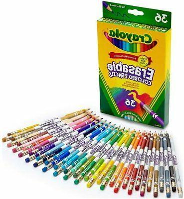 Crayola; Erasable Colored Pencils; Art Tools; 36 Count; Perf