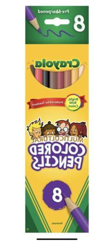Crayola Multicultural Colored Pencils, Set Of 8 Colors